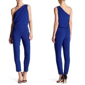Halston Heritage One Shoulder Jumpsuit